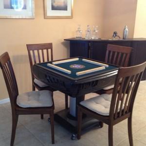 American Mah jongg Table with small American Tiles.